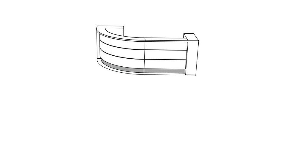 """VALDE Reception Desk LAV56L - 126 2/8"""""""
