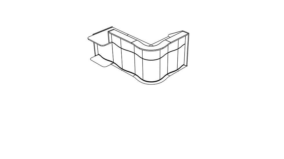 """WAVE Reception Desk LUV401P - 101 5/8"""""""