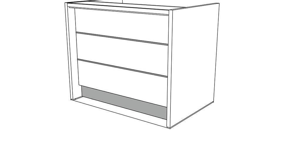 """VALDE Reception Desk LAV75L -  53 3/4"""" Length"""