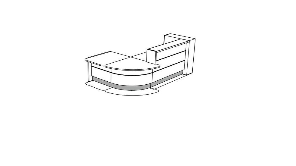 VALDE Reception Desk LAV1271L