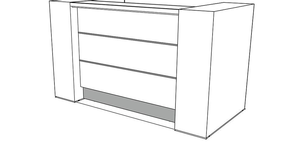 """VALDE Reception Desk LAV01L - 75 7/8""""Length"""