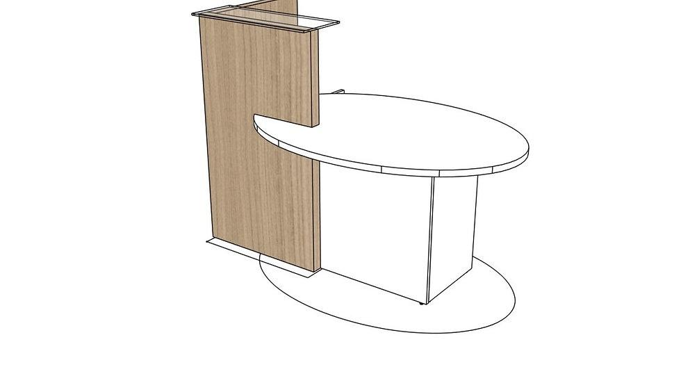 "OVO Reception Desk LOL10 - 61"" Length"