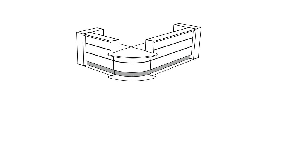 VALDE Reception Desk LAV118L