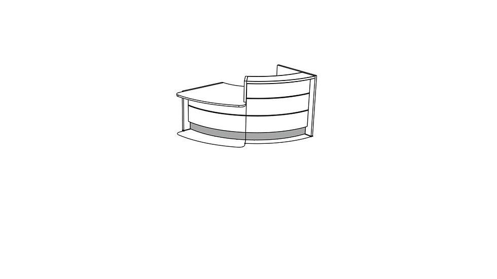 VALDE Reception Desk LAV161L
