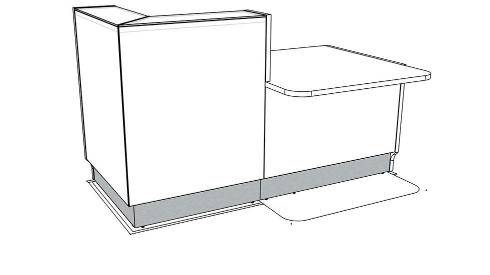 "LINEA Reception Desk LIN29L -  72 7/8"" Length"