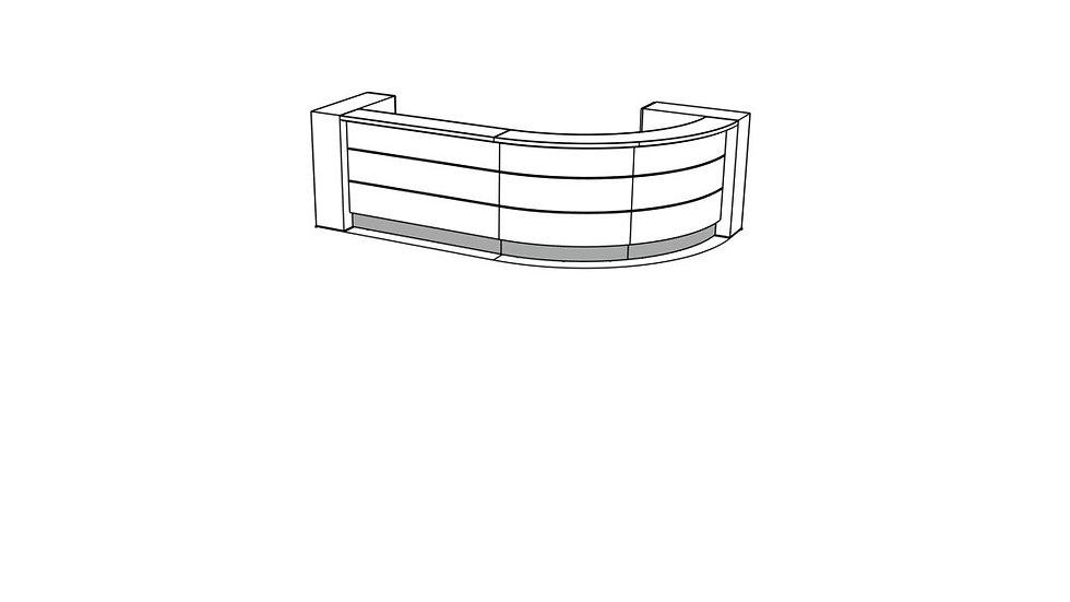 """VALDE Reception Desk LAV57L - 138 1/8"""""""
