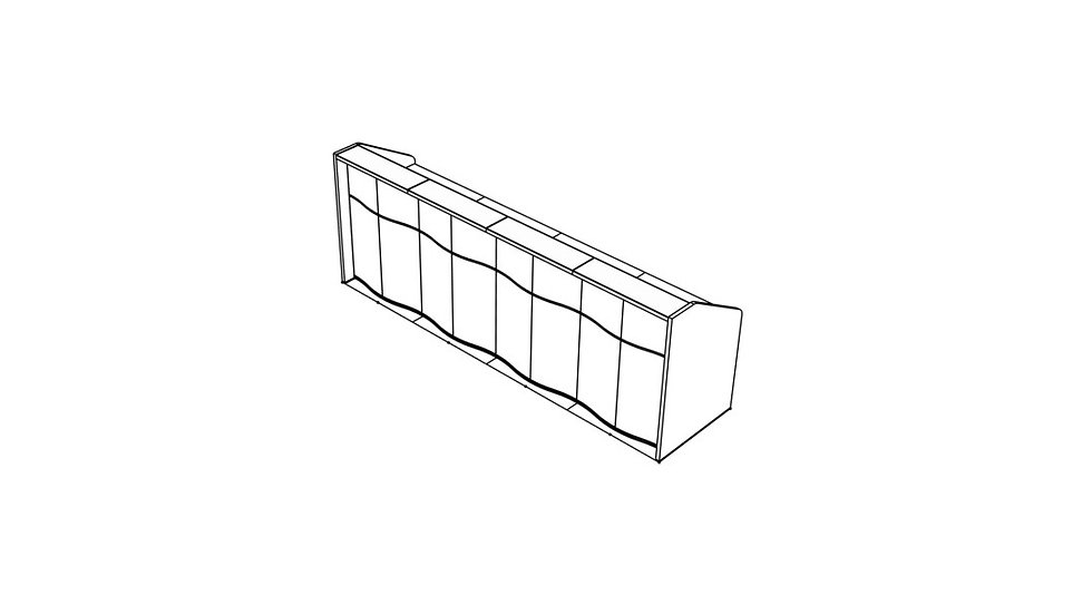 """WAVE Reception Desk LUV19 - 137 5/8"""""""