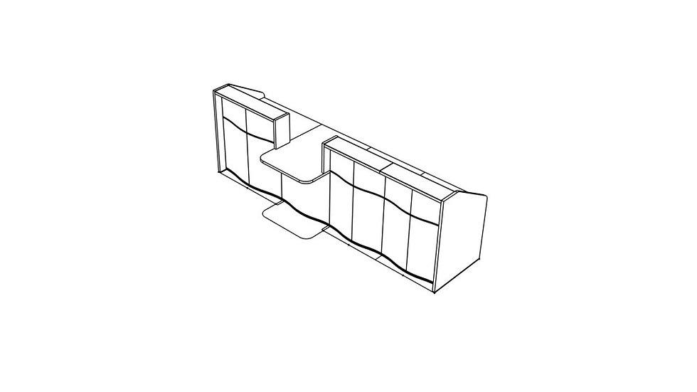"""WAVE Reception Desk LUV331 - 129 6/8"""""""