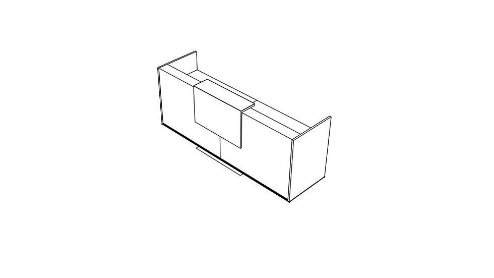 """TERA Reception Desk TRA20 - 112 4/8"""" Length"""