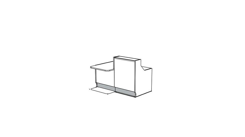 """LINEA Reception Desk LIN331P - 65 2/8"""""""