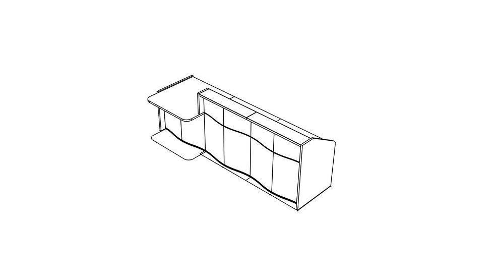 """WAVE Reception Desk LUV30P - 116 6/8"""""""