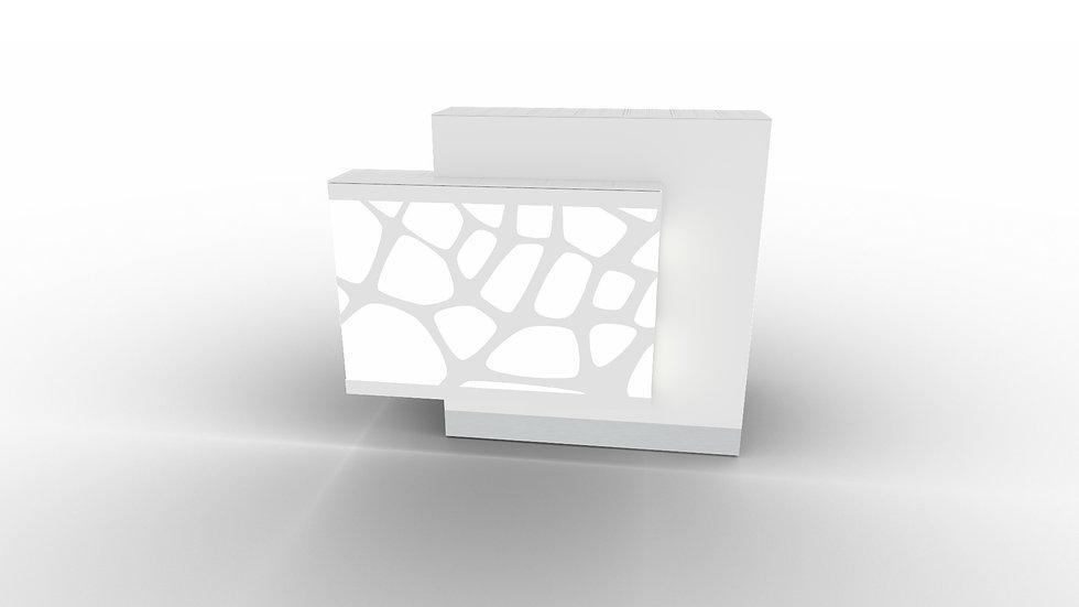 "ORGANIC Reception Desk  LOG11PG -51 1/8"" Length (Left facing)"
