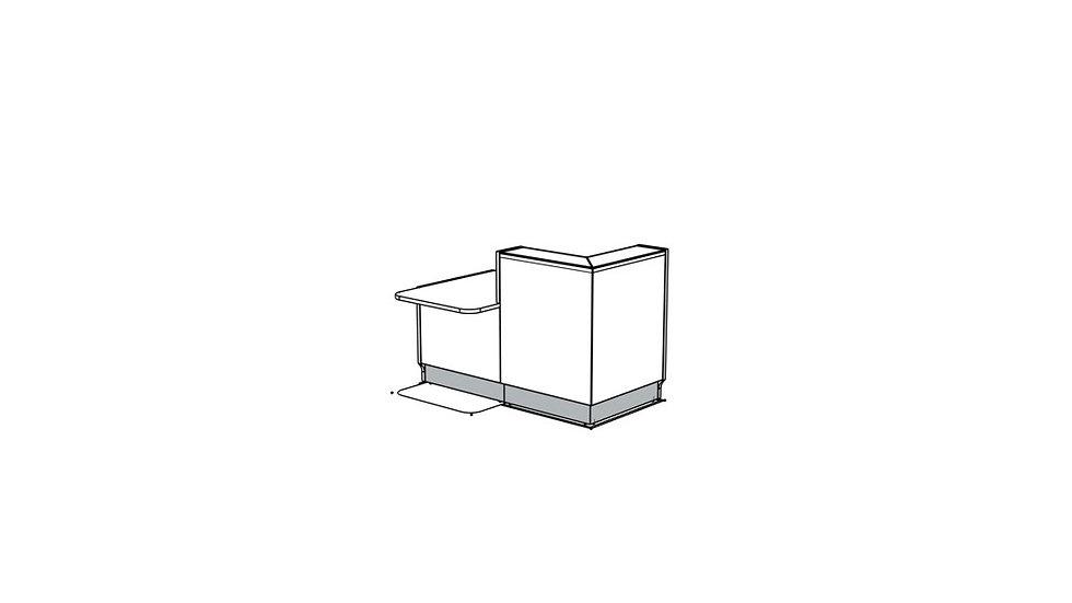"""LINEA Reception Desk LIN291P - 65"""""""