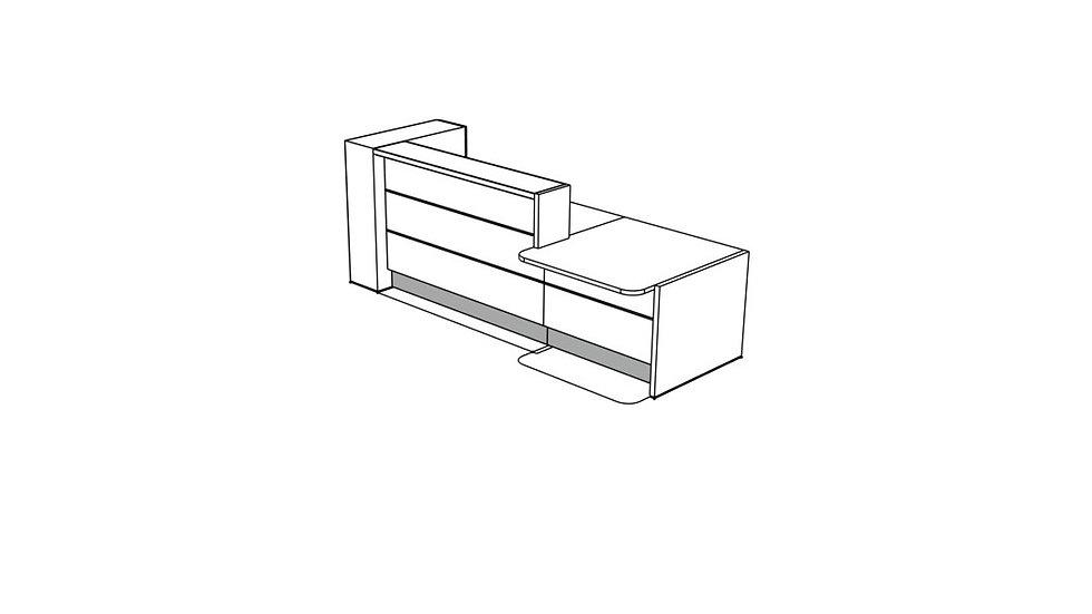 """VALDE Reception Desk LAV43L - 116"""""""