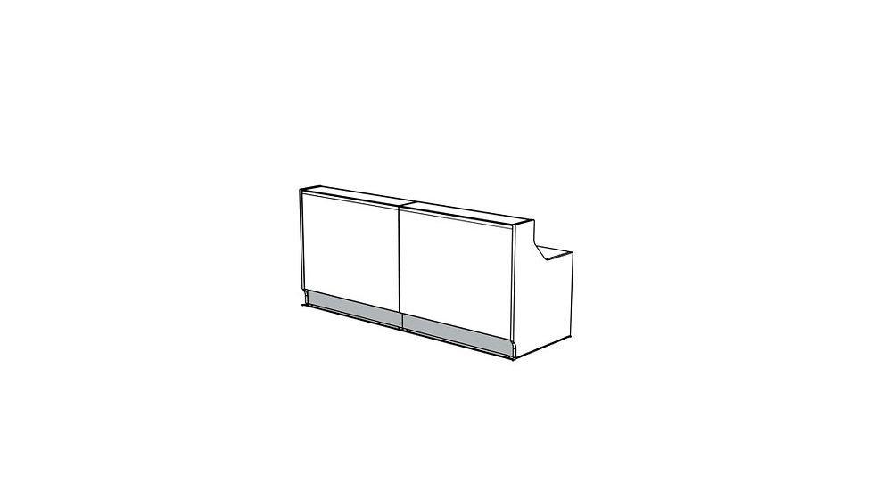 """LINEA Reception Desk LIN25 -  96 6/8"""""""