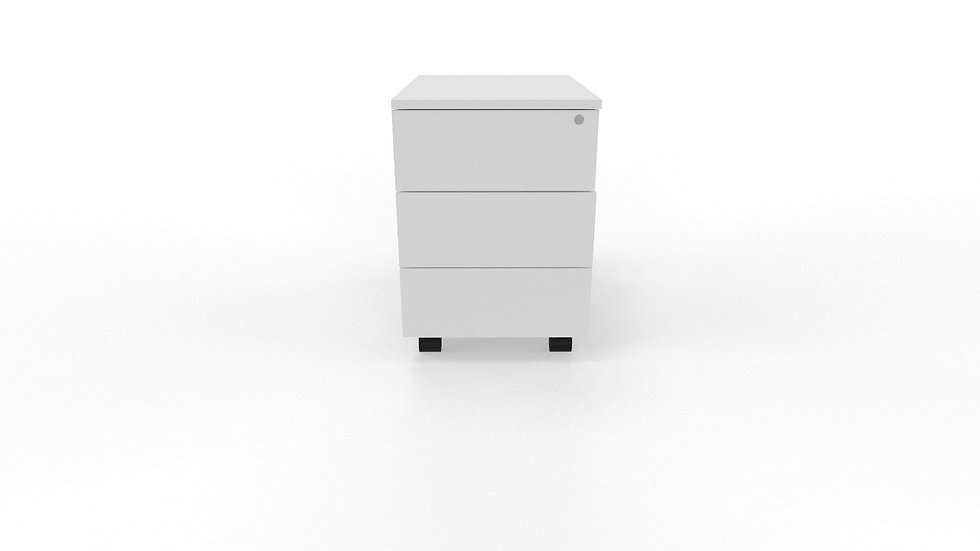 MODERN MOBILE PEDESTAL - 3 DRAWER