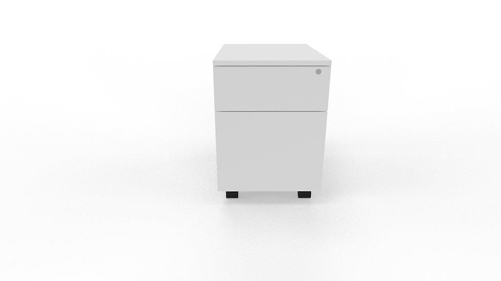 MODERN MOBILE PEDESTAL - 2 DRAWER / FILE DRAWER