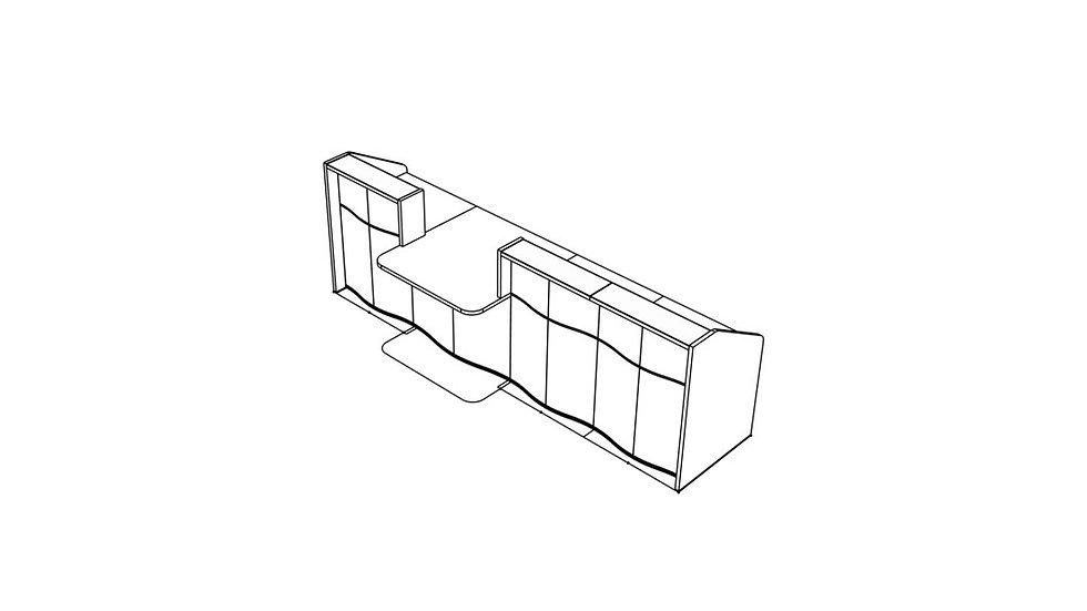 """WAVE Reception Desk LUV31 - 129"""""""