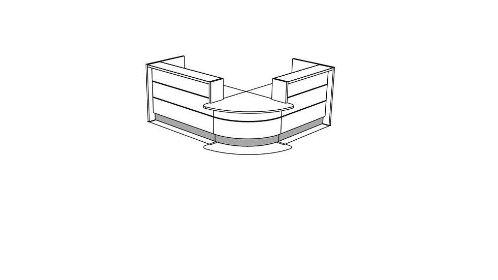 VALDE Reception Desk LAV104L
