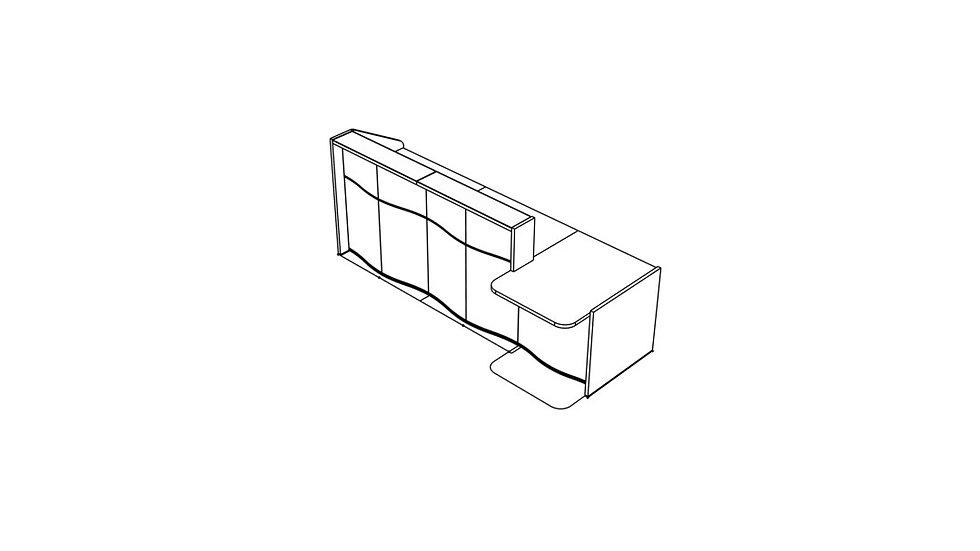"WAVE Reception Desk LUV301L - 108 7/8"""