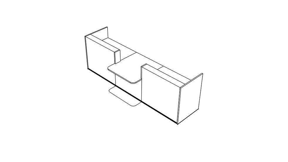 """TERA Reception Desk TRA134 - 136 """" Length"""