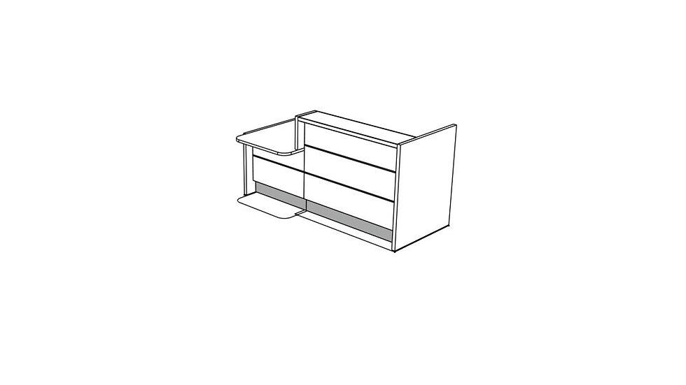 """VALDE Reception Desk LAV201L - 85 2/8"""""""