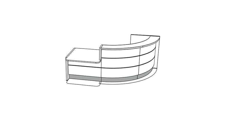 """VALDE Reception Desk LAV86L - 103 7/8"""""""