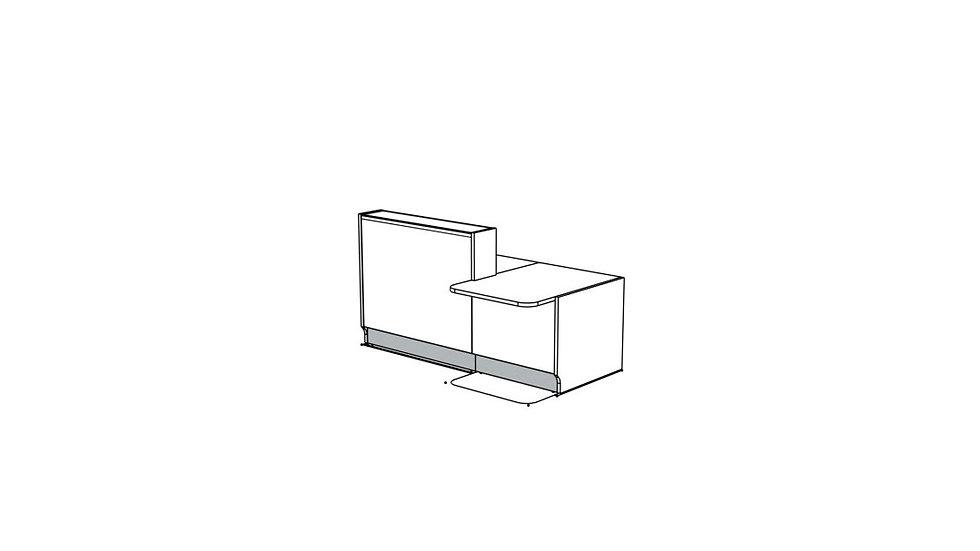 "LINEA Reception Desk LIN341L - 81"""