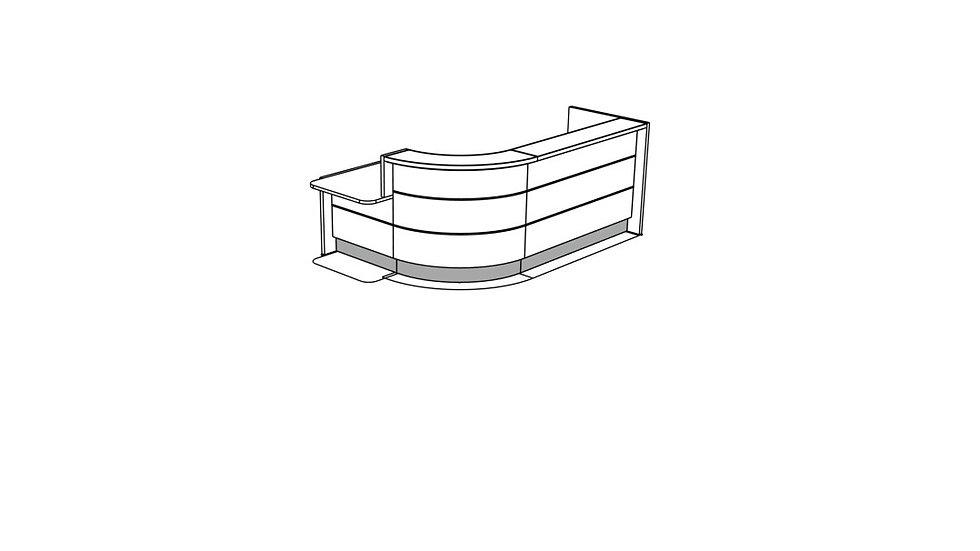 VALDE Reception Desk LAV1421L