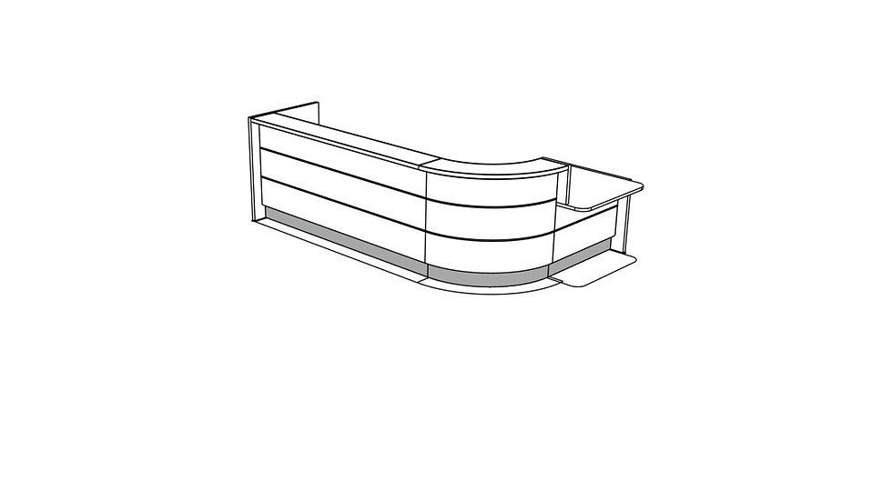 VALDE Reception Desk LAV145L