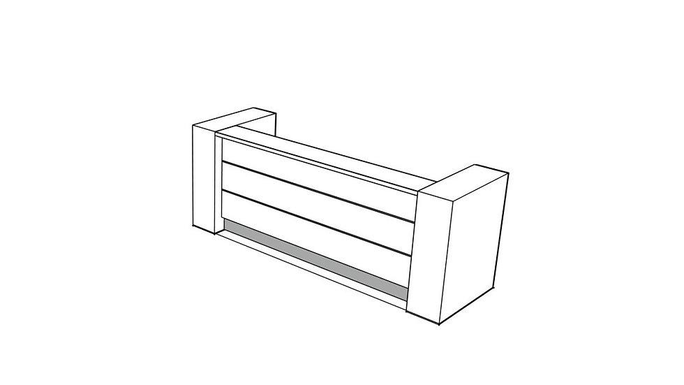 """VALDE Reception Desk LAV03L - 115 2/8"""""""