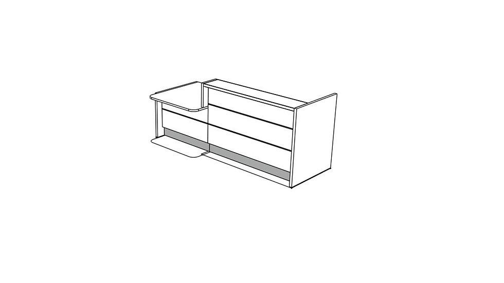 """VALDE Reception Desk LAV22L - 105"""""""