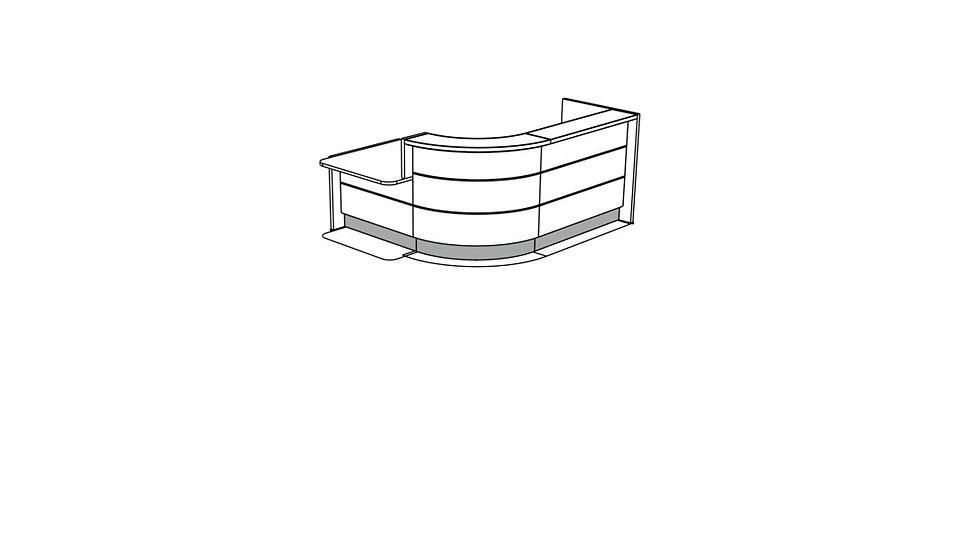 VALDE Reception Desk LAV140L