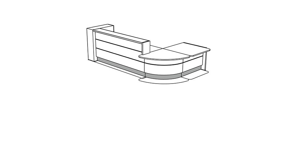 VALDE Reception Desk LAV130L