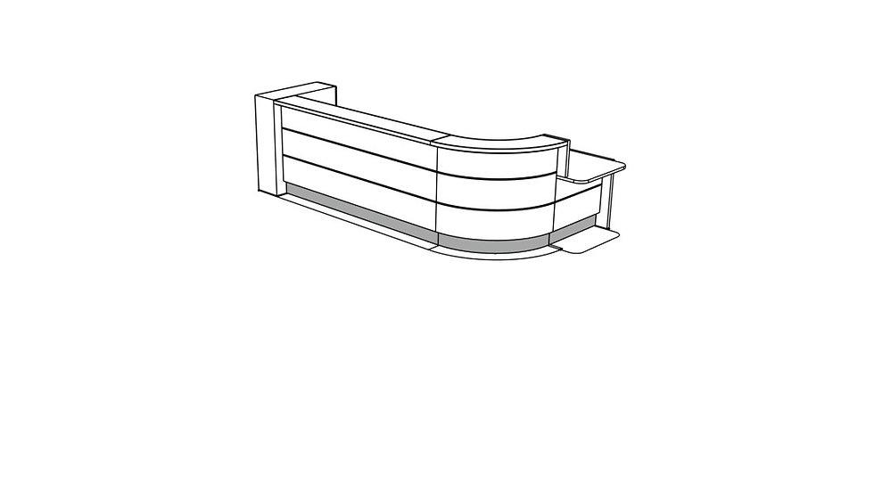 VALDE Reception Desk LAV1601L