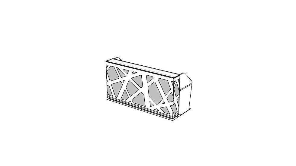 "ZIG ZAG Reception Desk LZG46 - 86 5/8"""