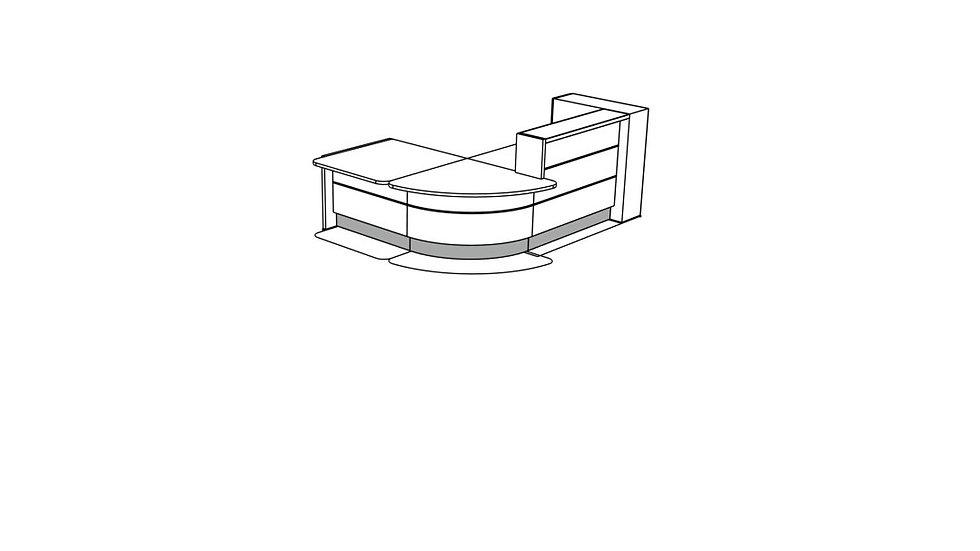 VALDE Reception Desk LAV125L