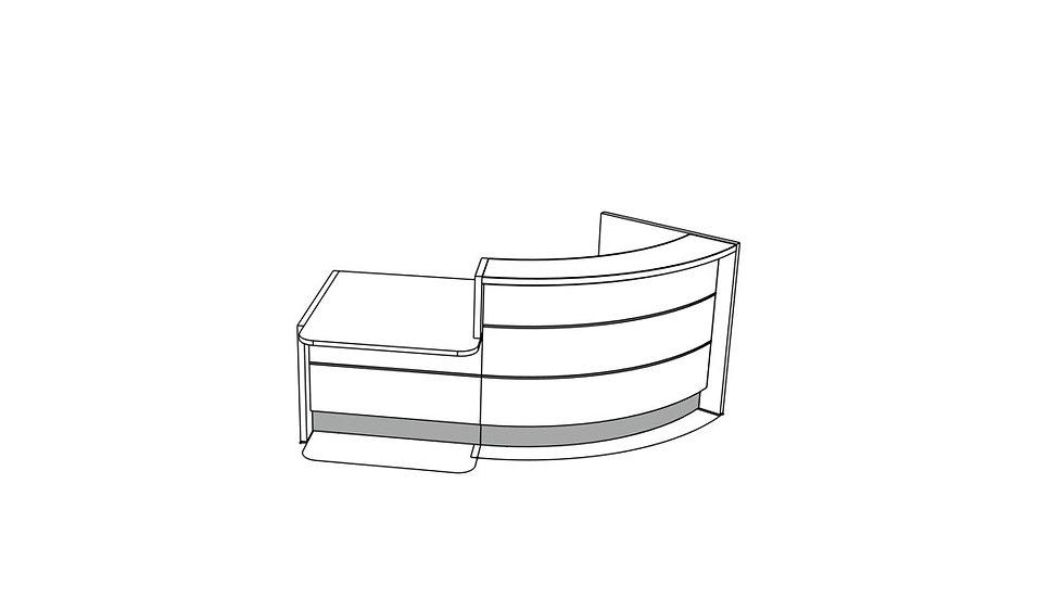 """VALDE Reception Desk LAV84L - 96 1/8"""""""