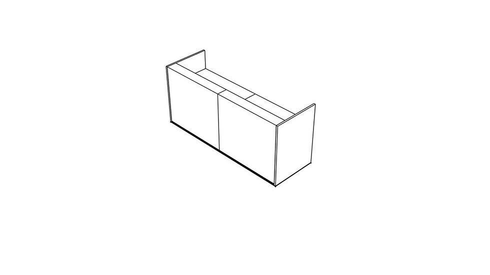 """TERA Reception Desk TRA119 - 96 6/8"""""""