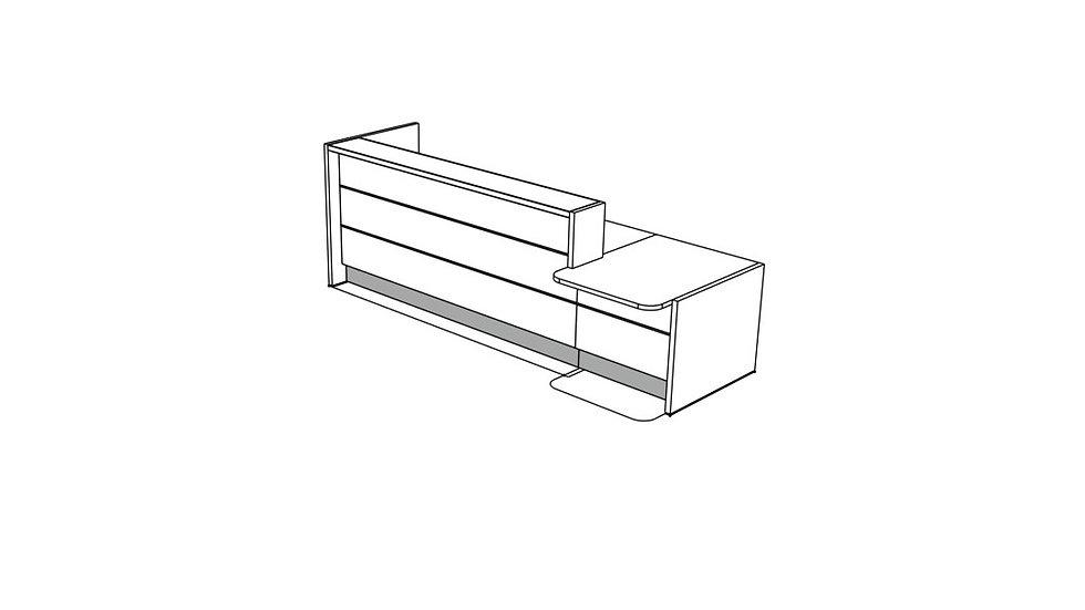 """VALDE Reception Desk LAV231L - 124 5/8"""""""