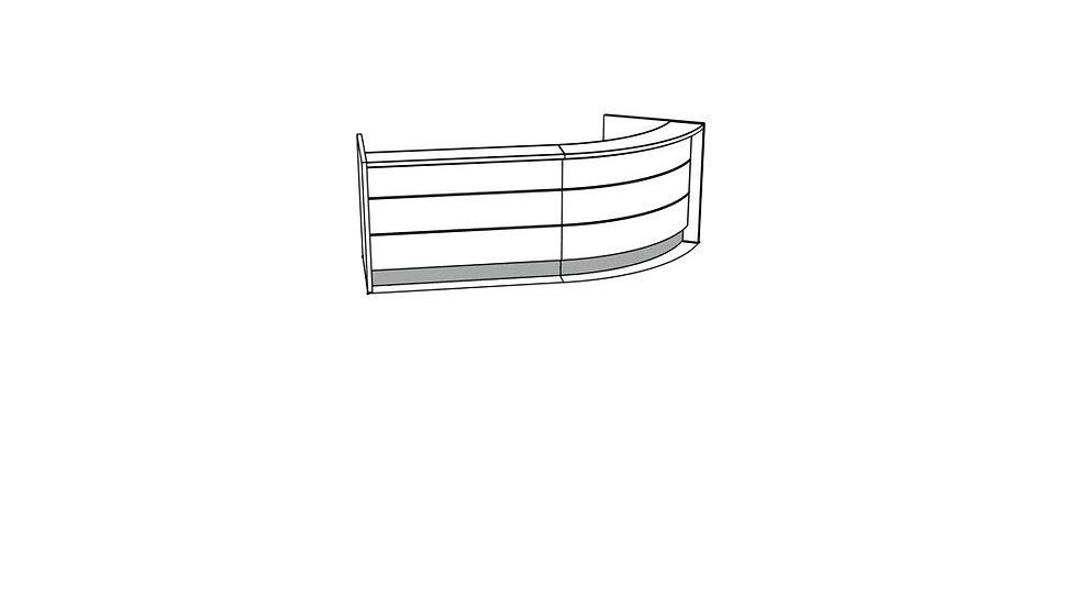"""VALDE Reception Desk LAV80L - 119 3/8"""""""