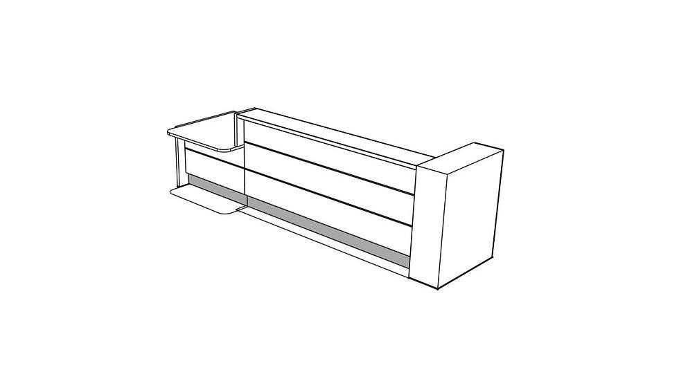 """VALDE Reception Desk LAV46L - 143 4/8"""""""