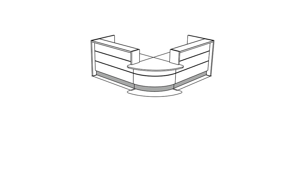 VALDE Reception Desk LAV105L