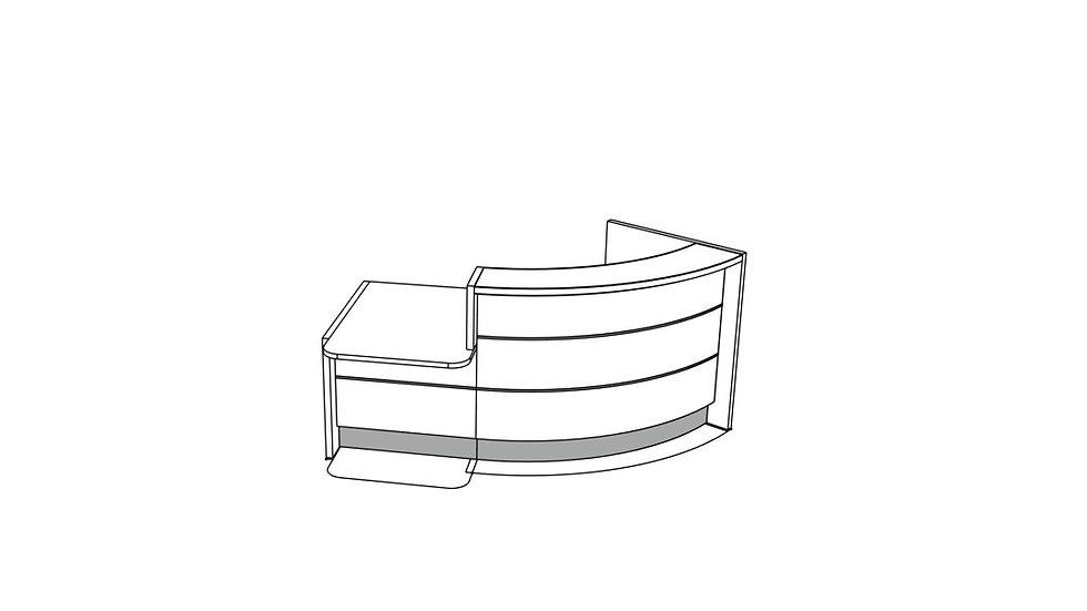 """VALDE Reception Desk LAV841L - 88 2/8"""""""