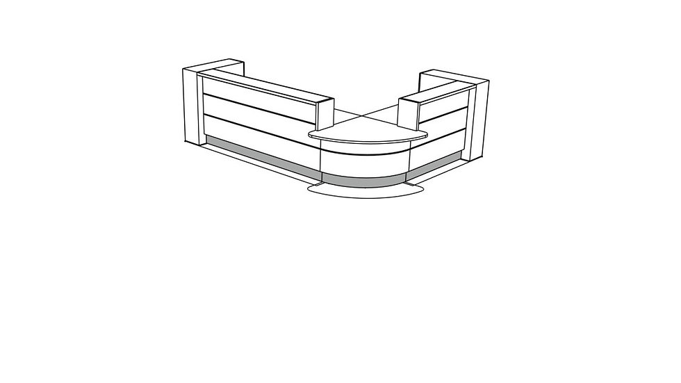 VALDE Reception Desk LAV122L