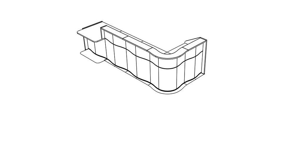 """WAVE Reception Desk LUV48P - 147 5/8"""""""