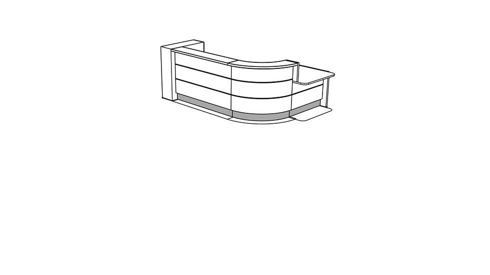 VALDE Reception Desk LAV158L
