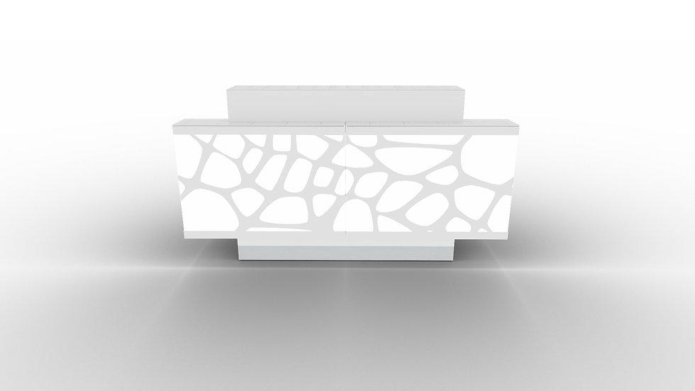 "ORGANIC Reception Desk LOG13G - 78 3/4"" Length"