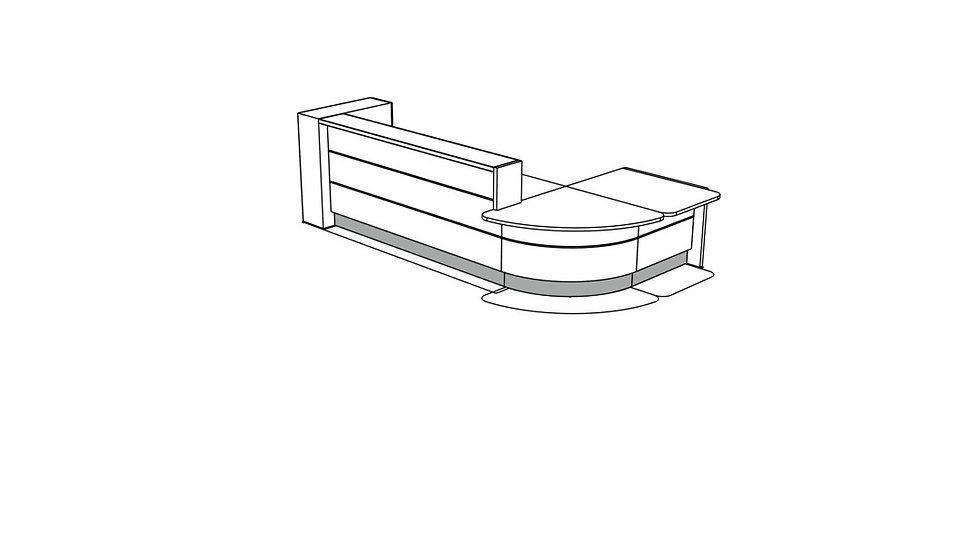 VALDE Reception Desk LAV1301L