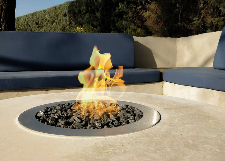 Galio Firepit Insert, Private Residence